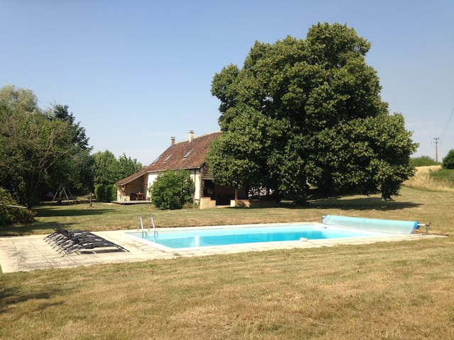 Big house with private pool - Lamnay - Dom