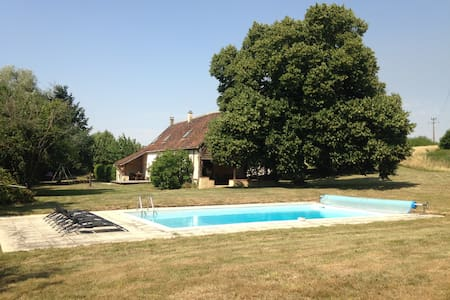 Big house with private pool - Lamnay - Dům