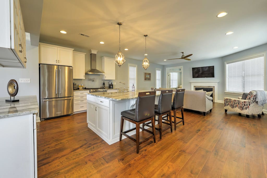 Newly constructed, this spacious home boasts 2,800 square feet of living space.