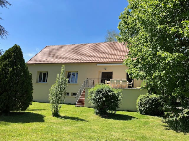 House near Dordogne river in Périgord