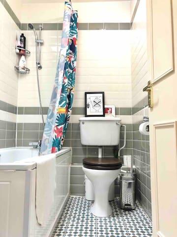 The stylish bathroom