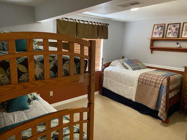 2nd Bedroom, sleeps 4 to include bunk beds, twin & trundle beds.