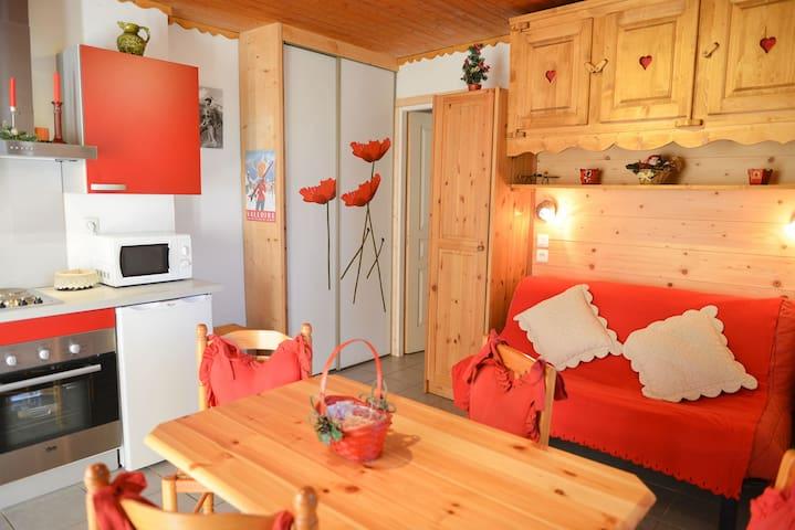 VALLOIRE : Châlet petit appartement avec jardin