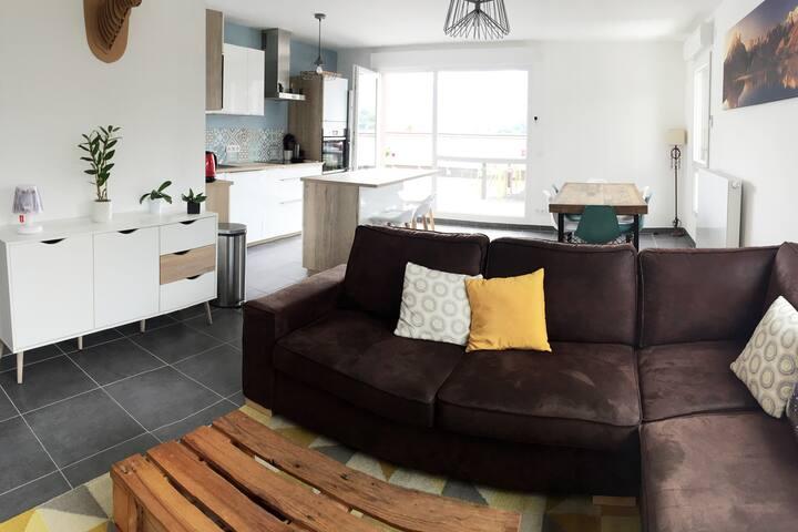 Appartement lumineux avec vue, sur Annecy