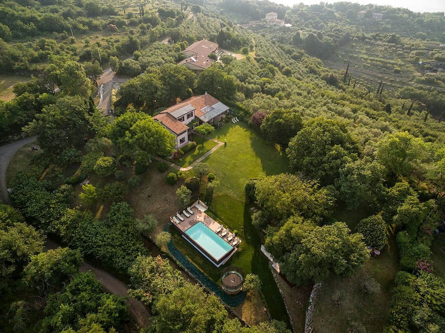 aerial view of Villa Beatrice