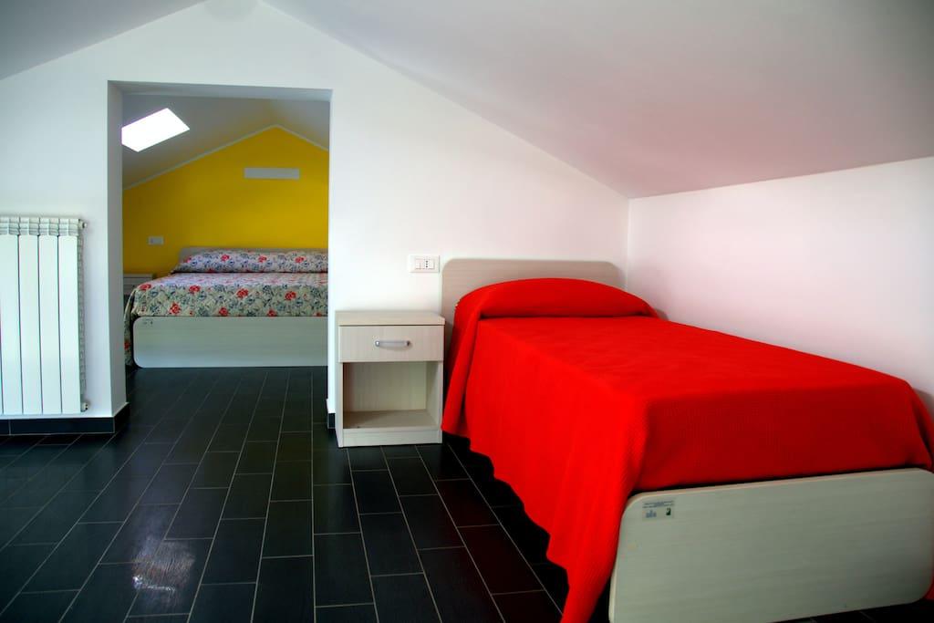 stanza gialla - letto singolo