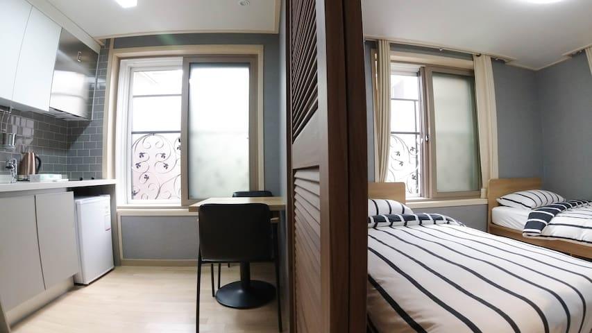 room & simple kitchen