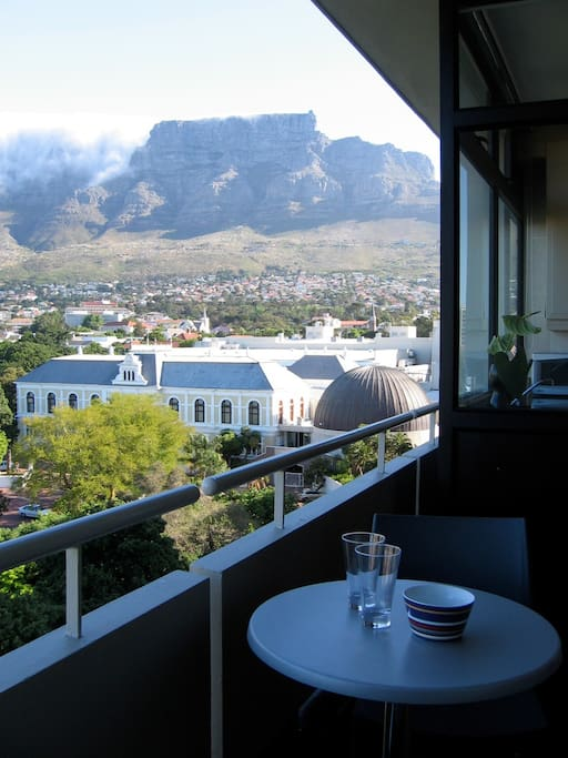 Balcony views of the South African National Museum and Table Mountain