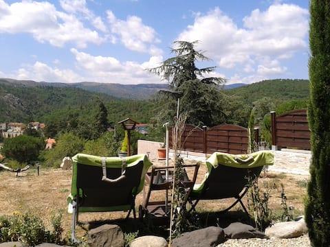 Appartement + jardin, sublime panorama montagneux
