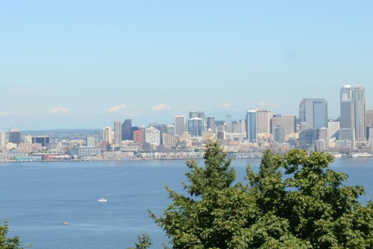 Come stay in West Seattle's Admiral District- this is the view just blocks away.  Everything you need you can walk to...this is city living! First floor walk up- NYC style older building- quaint cute and perfect studio for your visit to Seattle!