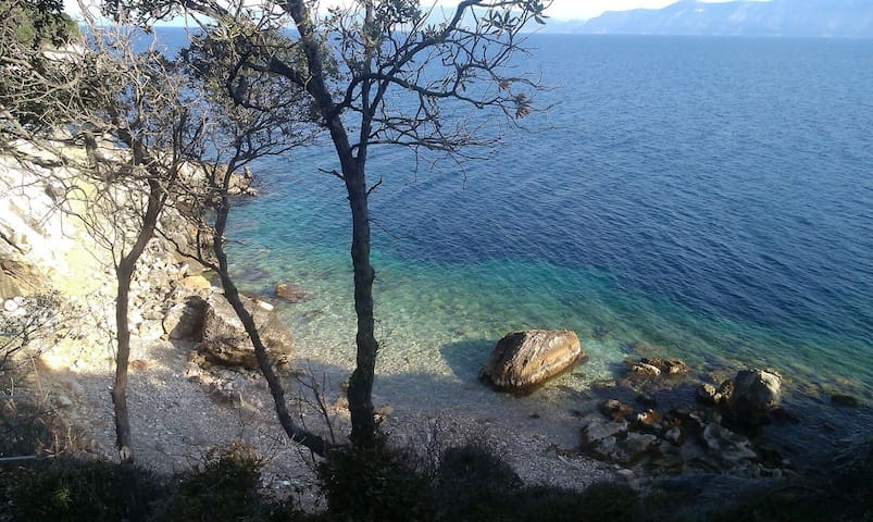 Apartment above the beach Mljet!