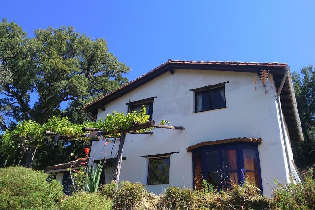 Vista frontal de la casa.
