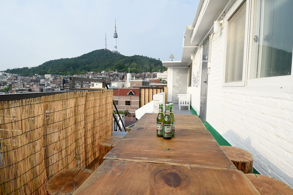 Namsan view from the third floor