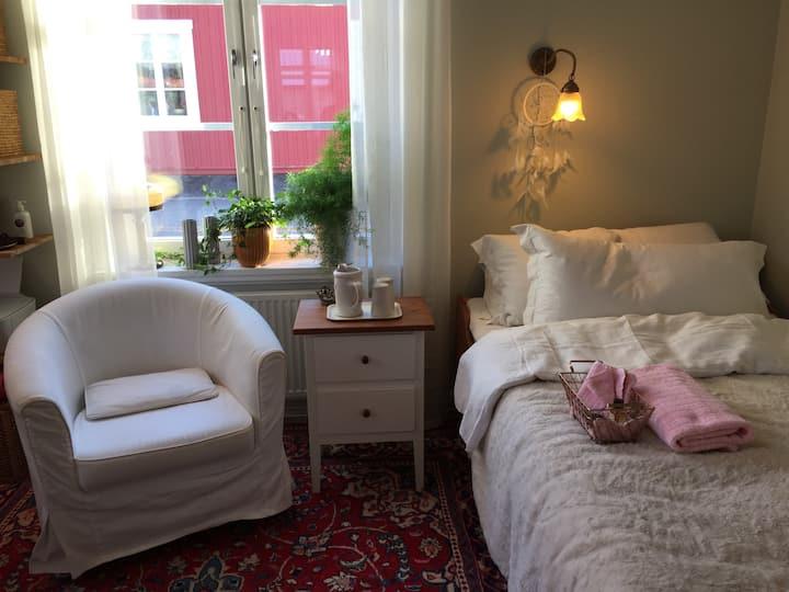 Stort, mysigt och komfortabelt rum Centrat i Umeå.