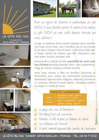 Gîte Del Sol - Noaillan - Дом
