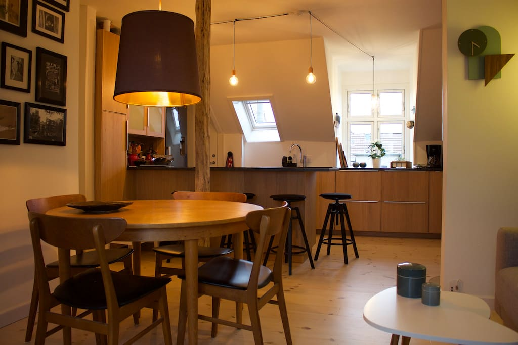 """""""Køkken-Alrum"""" is the Danish word for open-plan kitchen and living-room and it equals """"hygge"""""""