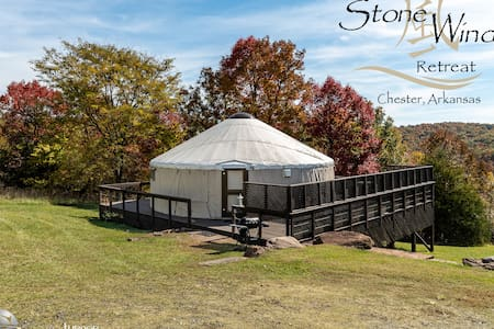 Exotic Yurt with Hot Tub, Privacy, Mountain Views