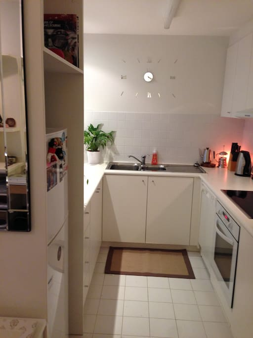 Kitchen is equipped with everything you would need for self catering and entertaining.