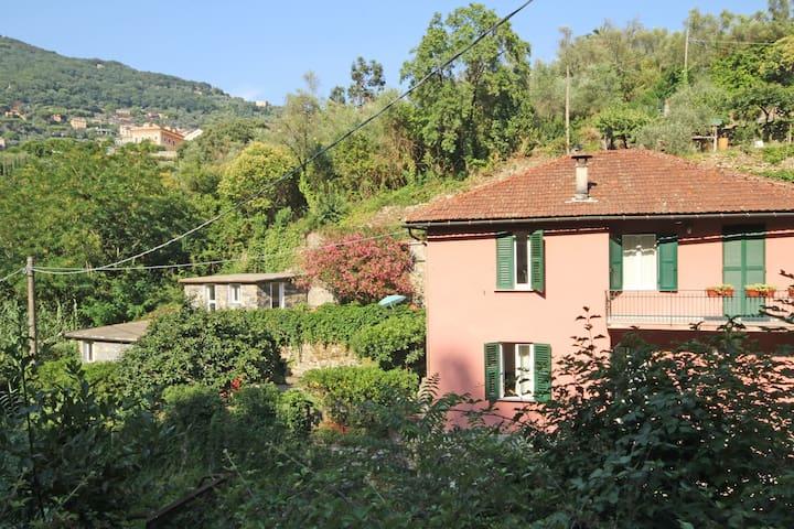 La casa è un ex mulino immerso nel verde - Camogli - Dom