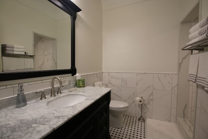 Private en-suite with walk in shower