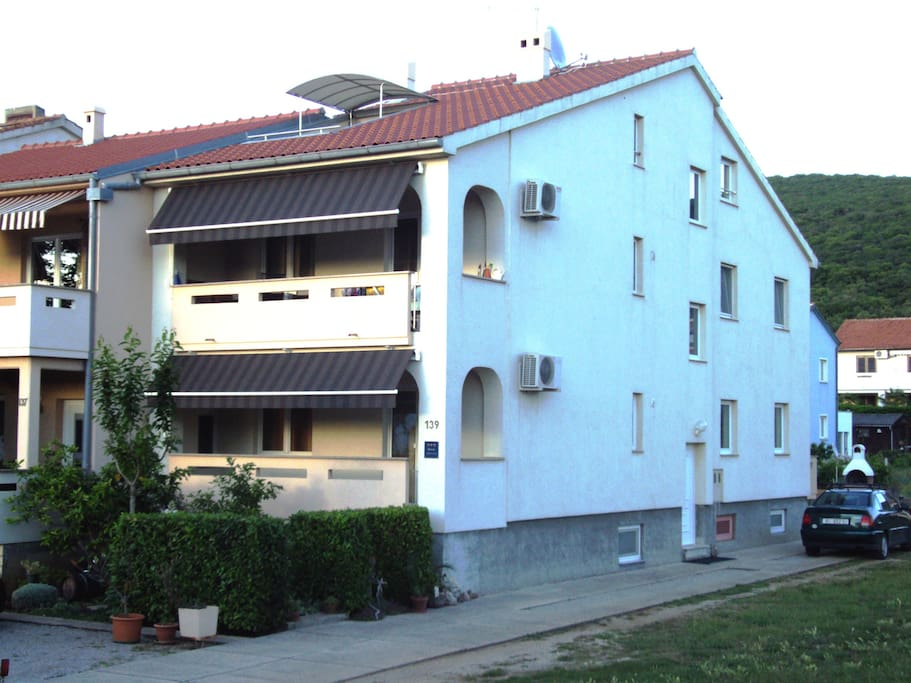 House and apartment from outside