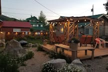 Perfect summer nights in the shared courtyard