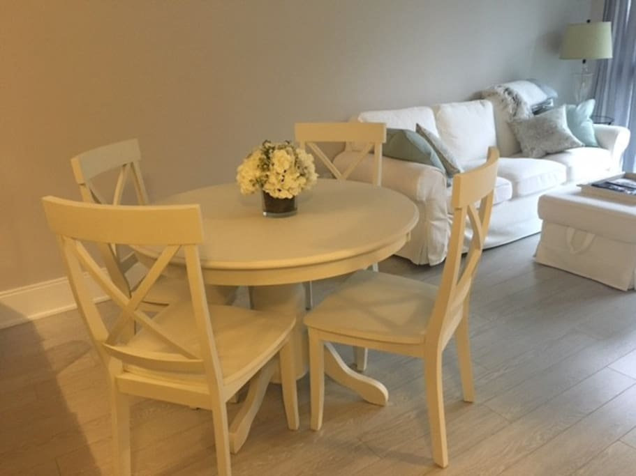 Comfortable dining area