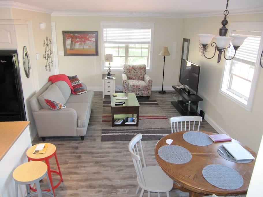 Living Room - Dining Room & Kitchen