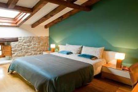 Habitación doble con baño privado - Garínoain - Hus
