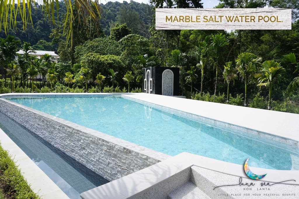 New!! Outdoor salt water pool with mountain view