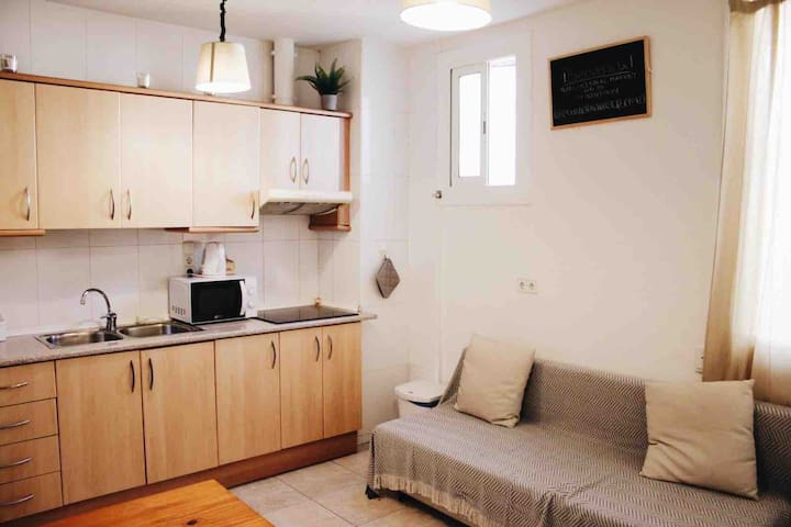 Central Market Apartment para Estancias Largas 🏡