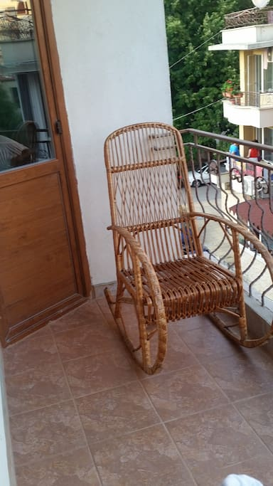 Balcony with Rocking chair