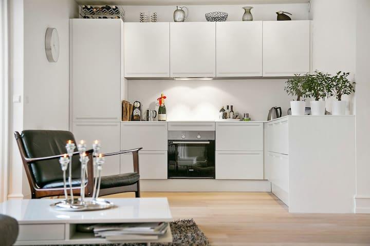 Luxurious open plan kitchen