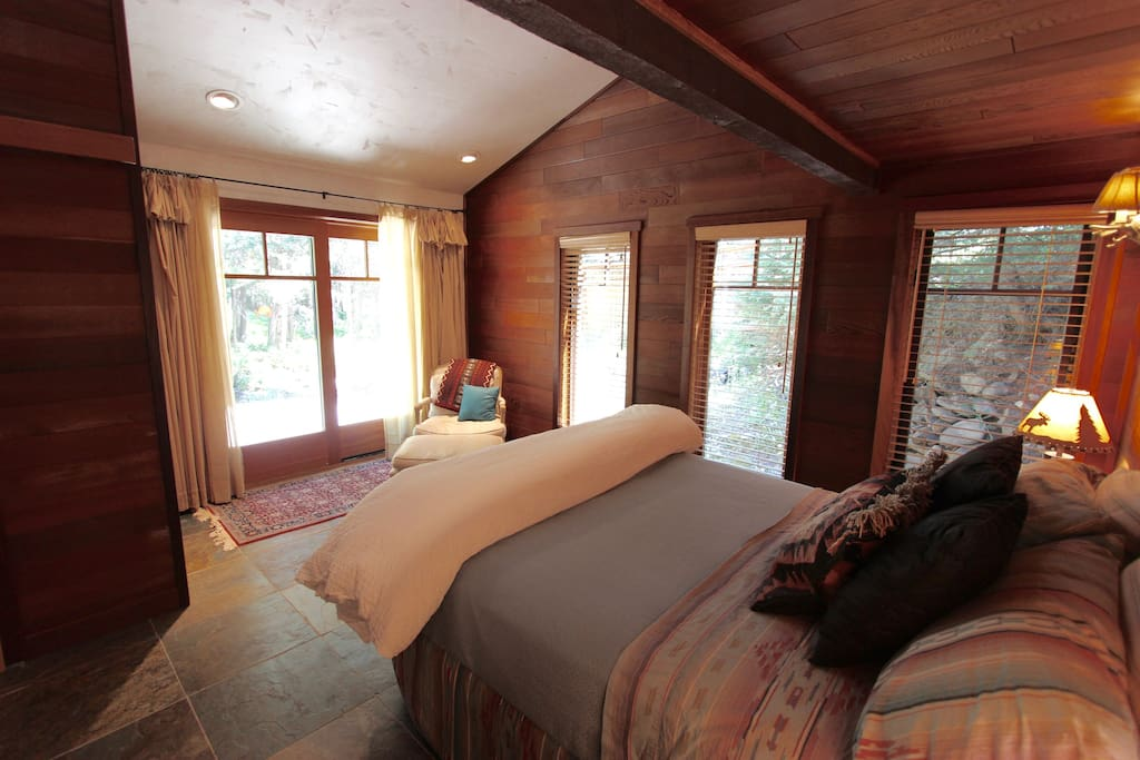 Master Bedroom with river view!