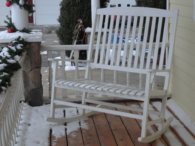 The porch is nice, even in winter!