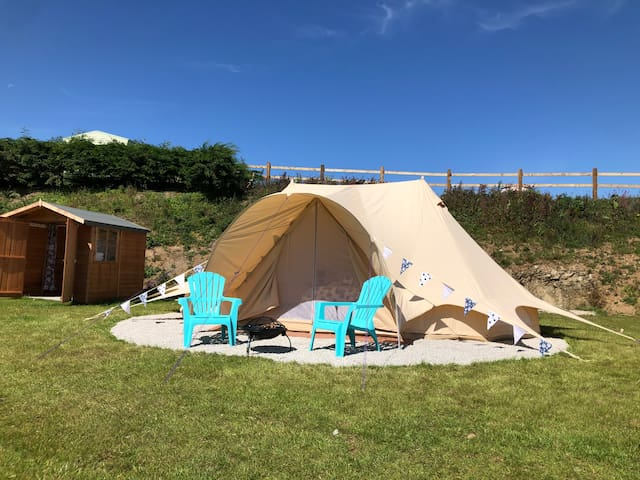 Raspberry: Bell Tent Holiday near Looe, Cornwall
