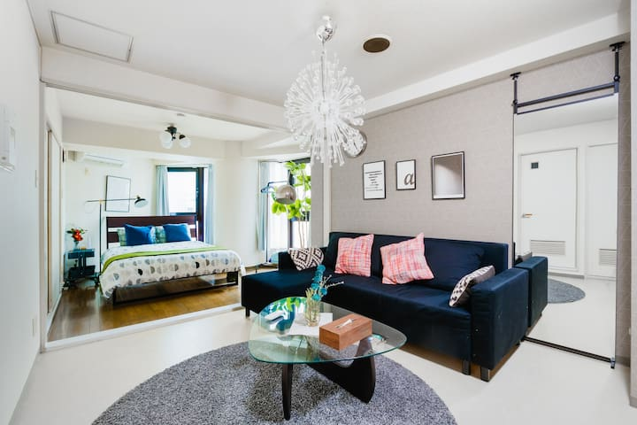 Namba area / 2LDK stylish & cozy family rooms