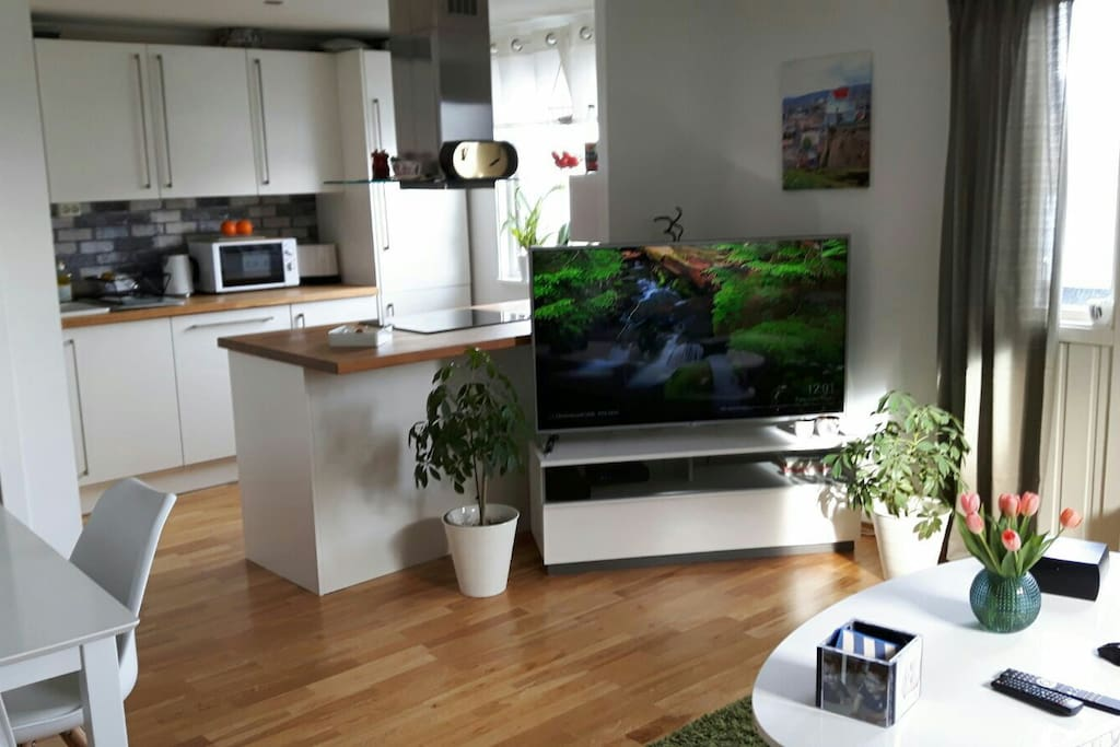 Smart-tv with Norwegian channels and online tv .
