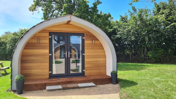 Lotus Pod glamping in Suffolk