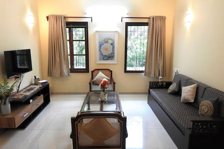 Shanti : A Peaceful Spacious 2BHK in French town