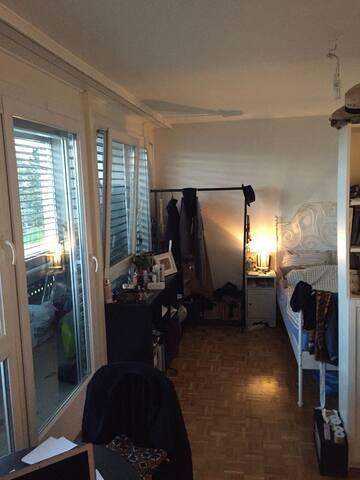 Charmant studio situé à 12 mn en métro de Lausanne - Epalinges