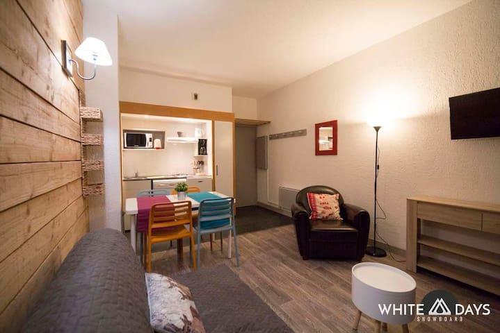 204 Appart 1 chambre, 4 couchages - Saint-Lary-Soulan - Appartement en résidence