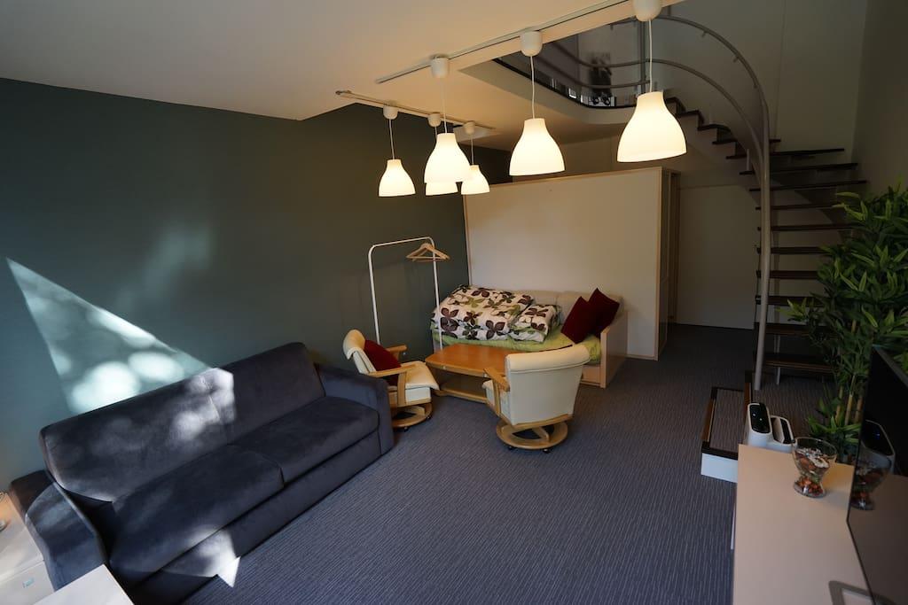 宽敞,舒适的客廳