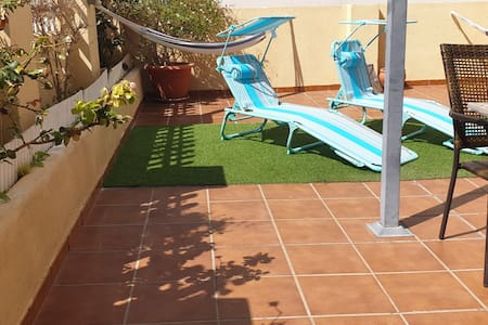 Terraza privada. Soleada. Smart tv. Piscina