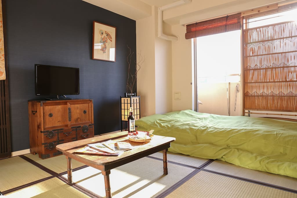 You can have experience in Japanese traditional's apartment.