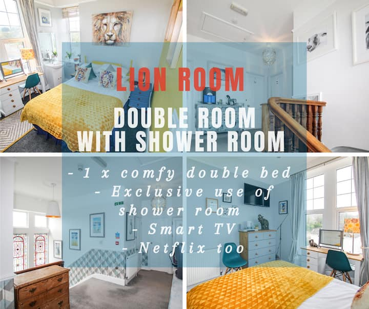 Lansdowne - Lion Room - Renovated Ensuite Bedrooms in Grand Edwardian Townhouse