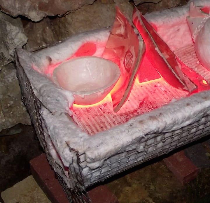design&dine plates in the kiln