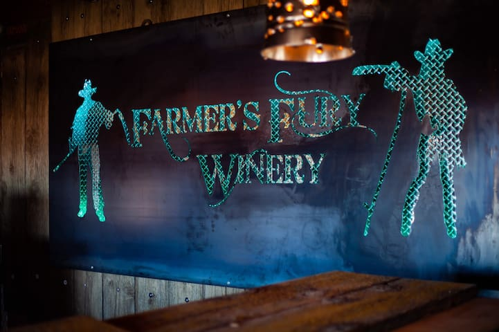 Farmer's Fury Winery - a rustic farm hideaway