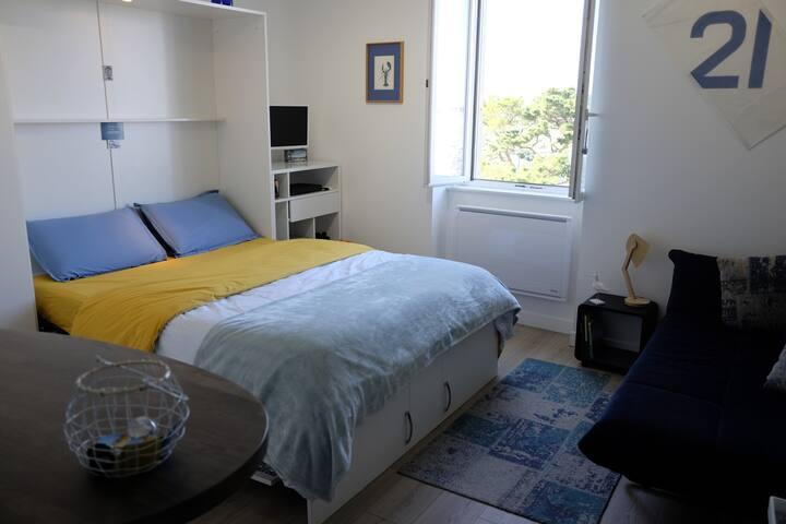 Le lit déplié 160X200 cm, un vrai lit confortable !
