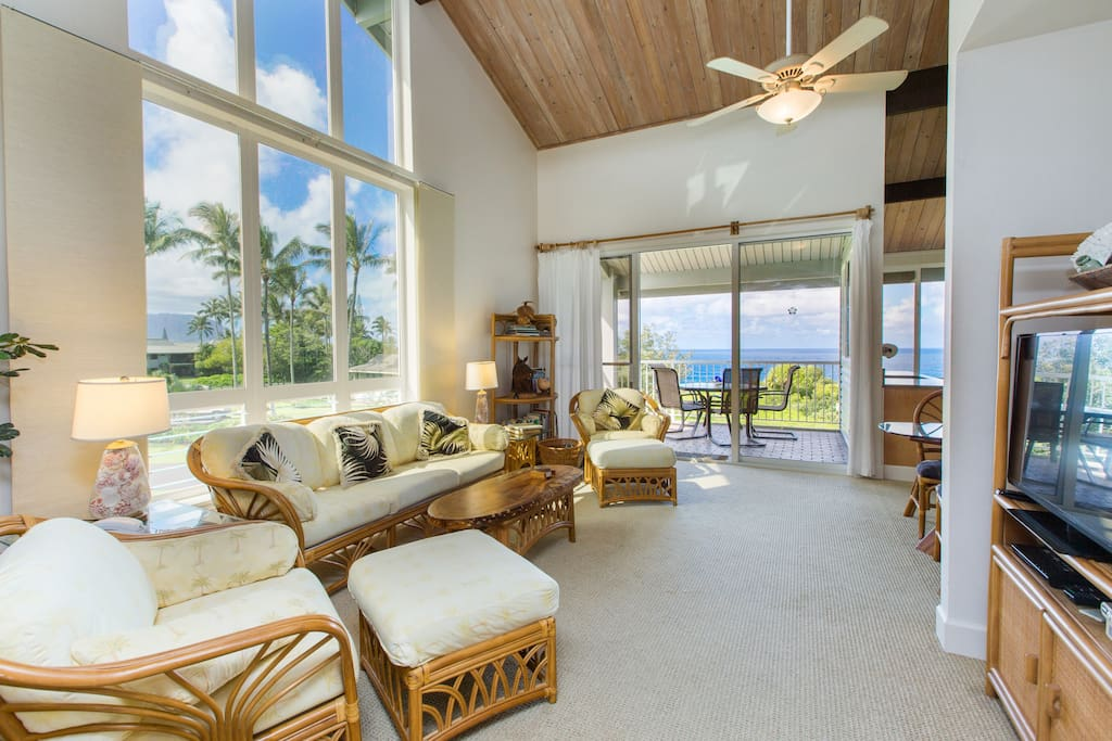 Ocean views from the Living and Kitchen Area